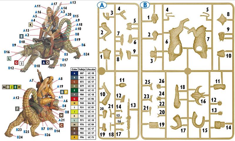ドラゴンと女戦士プラモデル(マスターボックスワールド オブ ファンタジー (World of Fantasy)No.MB24008)商品画像_1