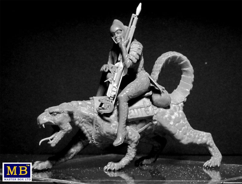 ドラゴンと女戦士プラモデル(マスターボックスワールド オブ ファンタジー (World of Fantasy)No.MB24008)商品画像_2