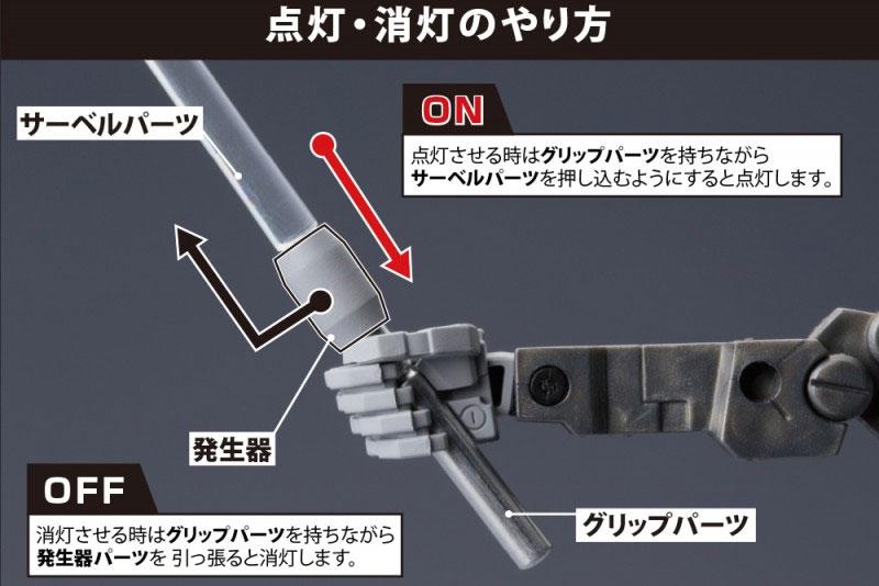 LEDソード BLUE Ver.プラモデル(コトブキヤギミックユニットNo.MG003)商品画像_2