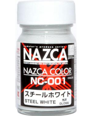 NC-001 スチールホワイト (光沢)塗料(ガイアノーツNAZCA カラーシリーズNo.30716)商品画像