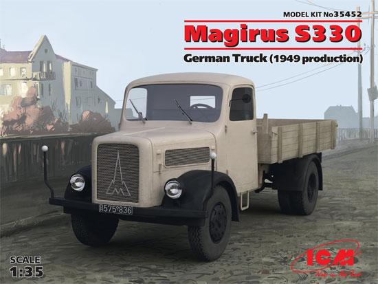 ドイツ マギルス S330 トラック (1949)プラモデル(ICM1/35 ミリタリービークル・フィギュアNo.35452)商品画像