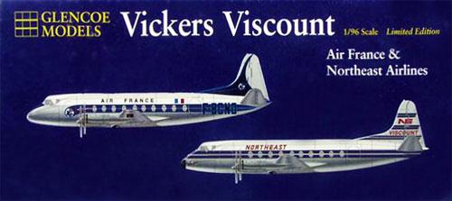 ヴィッカース バイカウント エールフランス&ノースイースト航空プラモデル(グレンコモデルプラスチックモデル組立キットNo.06501)商品画像