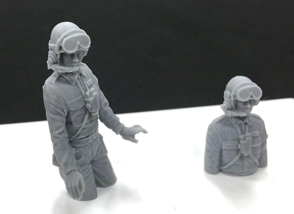 陸上自衛隊 機甲科隊員セット 1 (61式戦車対応)レジン(モデリウムミリタリーフィギュアNo.T16F35-002M)商品画像_3