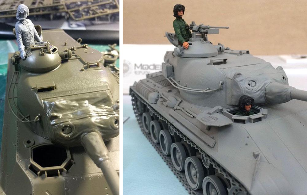 陸上自衛隊 機甲科隊員セット 1 (61式戦車対応)レジン(モデリウムミリタリーフィギュアNo.T16F35-002M)商品画像_4