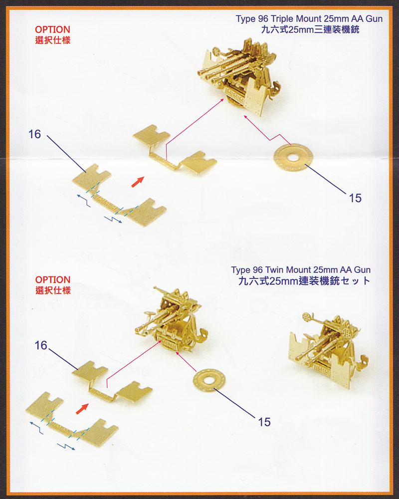日本海軍 九六式 25mm 三連装機銃エッチング(インフィニモデル1/350 艦船用エッチングパーツNo.IMP35007R1)商品画像_3