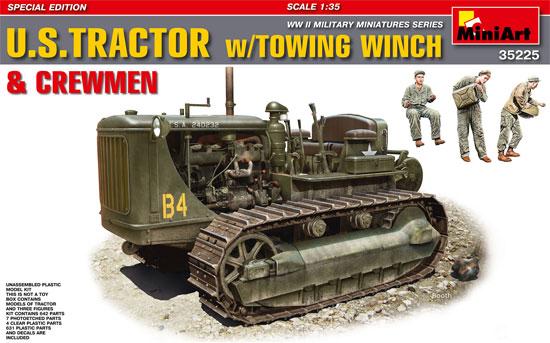 アメリカ トラクター w/牽引ウインチプラモデル(ミニアート1/35 WW2 ミリタリーミニチュアNo.35225)商品画像