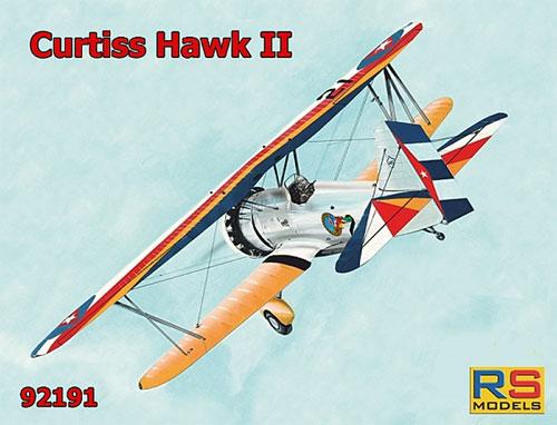 カーチス ホーク 2プラモデル(RSモデル1/72 エアクラフト プラモデルNo.92191)商品画像