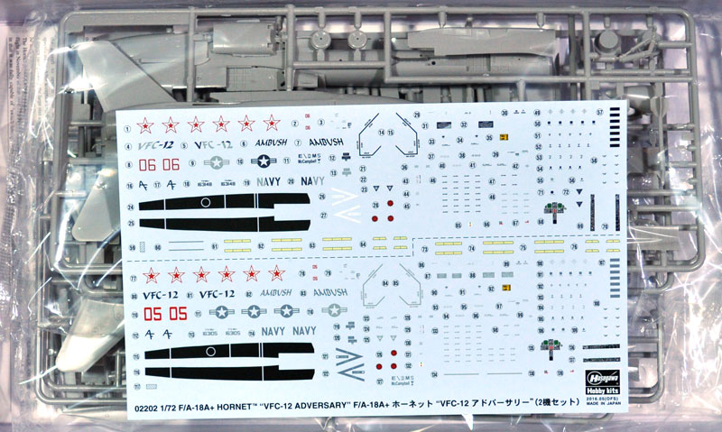 F/A-18A+ ホーネット VFC-12 アドバーサリープラモデル(ハセガワ1/72 飛行機 限定生産No.02202)商品画像_1