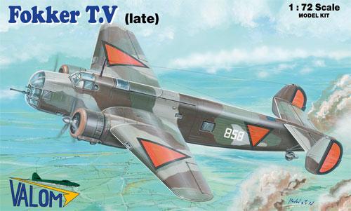 フォッカー T.V 双発爆撃機 後期型プラモデル(バロムモデル1/72 エアクラフト プラモデルNo.72102)商品画像