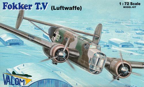 フォッカー T.V 双発爆撃機 ドイツ空軍プラモデル(バロムモデル1/72 エアクラフト プラモデルNo.72109)商品画像