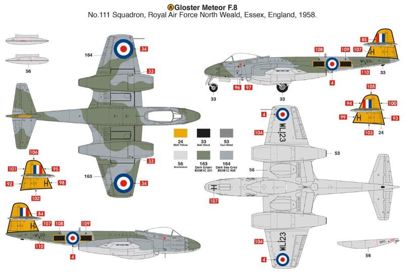 グロスター ミーティア F.8プラモデル(エアフィックス1/48 ミリタリーエアクラフトNo.A09182)商品画像_3