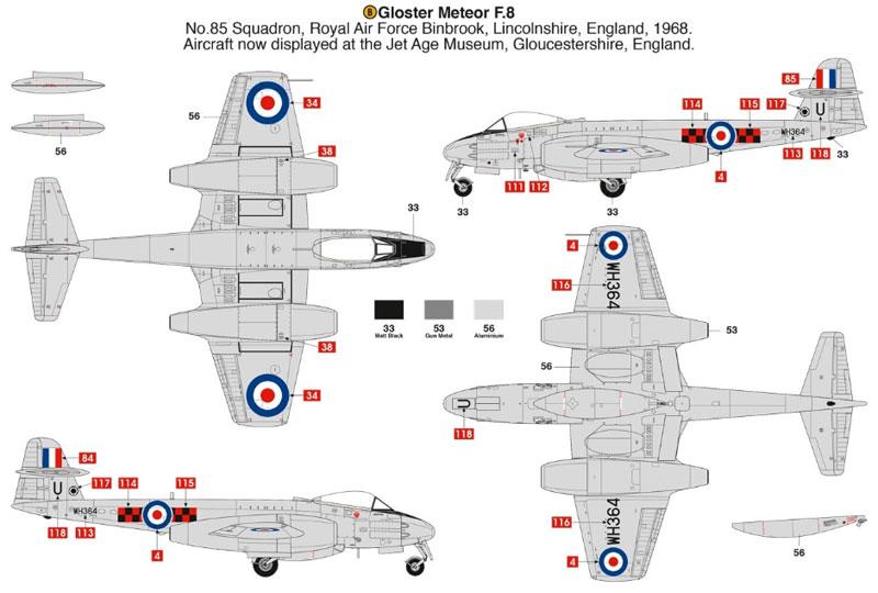 グロスター ミーティア F.8プラモデル(エアフィックス1/48 ミリタリーエアクラフトNo.A09182)商品画像_4