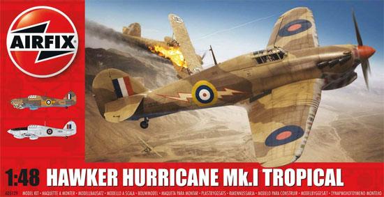 ホーカー ハリケーン Mk.1 トロピカルプラモデル(エアフィックス1/48 ミリタリーエアクラフトNo.A05129)商品画像
