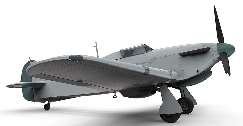 ホーカー ハリケーン Mk.1 トロピカルプラモデル(エアフィックス1/48 ミリタリーエアクラフトNo.A05129)商品画像_3