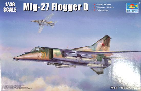 MiG-27 フロッガーDプラモデル(トランペッター1/48 エアクラフト プラモデルNo.05802)商品画像