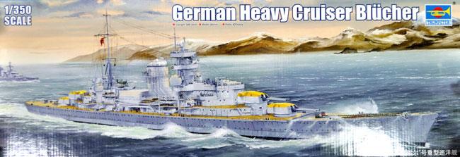 ドイツ海軍 重巡洋艦 ブリュッヒャープラモデル(トランペッター1/350 艦船シリーズNo.05346)商品画像