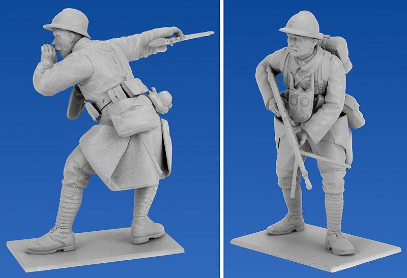 フランス歩兵 (1916)プラモデル(ICM1/35 ミリタリービークル・フィギュアNo.35691)商品画像_2