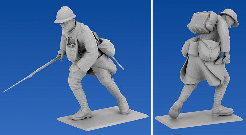 フランス歩兵 (1916)プラモデル(ICM1/35 ミリタリービークル・フィギュアNo.35691)商品画像_3