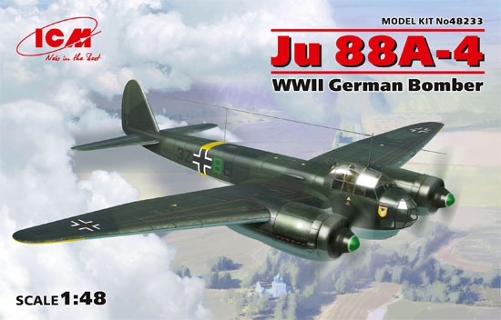 ユンカース Ju88A-4 爆撃機プラモデル(ICM1/48 エアクラフト プラモデルNo.48233)商品画像