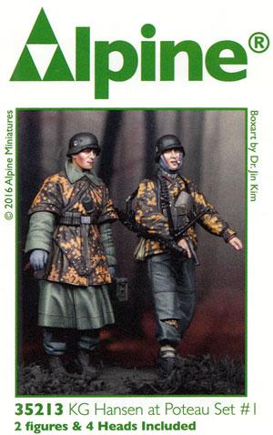 WW2 ドイツ 武装親衛隊 歩兵 ハンセン戦闘団 (バルジの戦い) (2体セット)レジン(アルパイン1/35 フィギュアNo.AM35213)商品画像