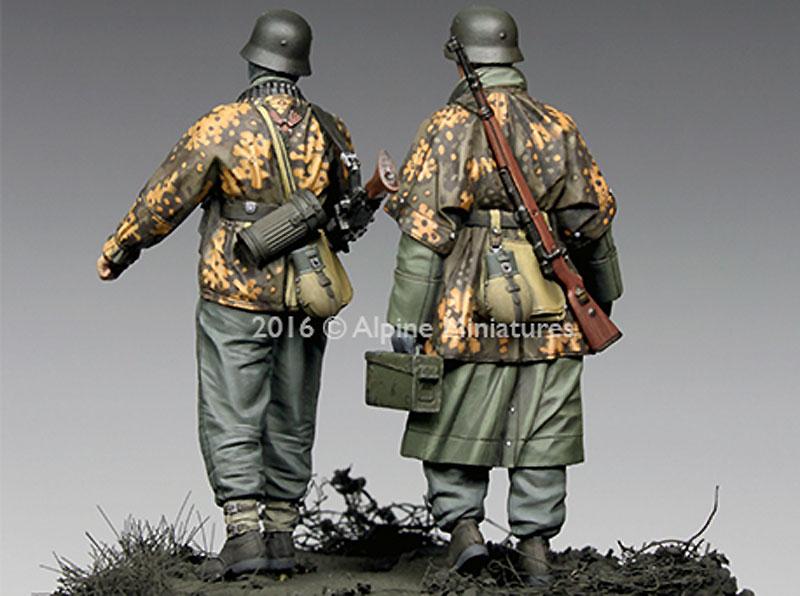 WW2 ドイツ 武装親衛隊 歩兵 ハンセン戦闘団 (バルジの戦い) (2体セット)レジン(アルパイン1/35 フィギュアNo.AM35213)商品画像_4