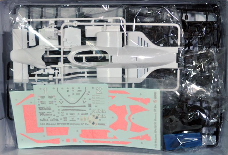 マクラーレン MP4/2B '85 モナコGP仕様プラモデル(BEEMAX1/20 カーモデルNo.009)商品画像_1