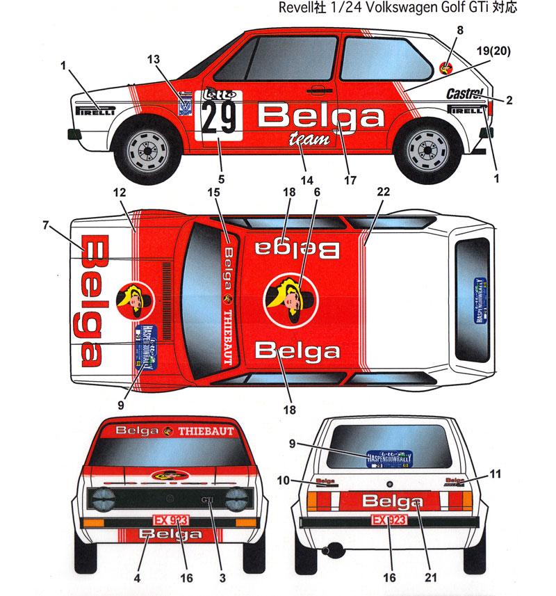 フォルクスワーゲン ゴルフ Gti ベルガ #29 ヨーロピアンラリー チャンピオンシップ 1984デカール(スタジオ27ラリーカー オリジナルデカールNo.DC1152)商品画像_2