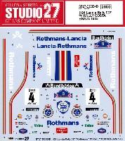 スタジオ27ラリーカー オリジナルデカールランチア 037 ラリー #4 ラリー コスタ・ブラバ 1985
