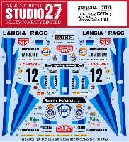 スタジオ27ラリーカー オリジナルデカールランチア 037 ラリー #12 RACC モンテカルロ 1986