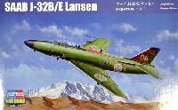 ホビーボス1/48 エアクラフト プラモデルサーブ J32B/E ランセン