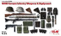 ICM1/35 ミリタリービークル・フィギュアWW2 ドイツ歩兵 ウェポン & 装備セット