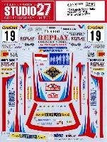 スタジオ27ラリーカー オリジナルデカールランチア スーパーデルタ バルボリン #19 モンテカルロ 1996