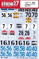 スタジオ27ツーリングカー/GTカー オリジナルデカールメルセデス 300SL レース&ラリー 1955-1956