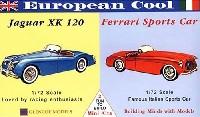 グレンコモデルプラスチックモデル組立キットヨーロピアンクール (ジャガー XK120 / フェラーリスポーツカー)