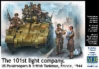 マスターボックス1/35 ミリタリーミニチュアアメリカ 空挺部隊兵 + イギリス 戦車兵 + 子供を抱いた女性 (フランス 1944)