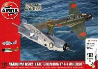 エアフィックス1/72 ミリタリーエアクラフト中島 B5N2 97式艦上攻撃機 & グラマン F4F-4 ワイルドキャット ドッグファイトセット