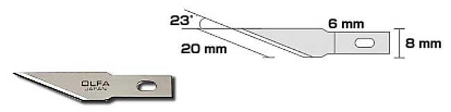 アートナイフプロ 直線刃 (替刃)カッター(オルファカッターナイフ用替刃No.XB157T)商品画像_1