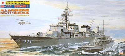 海上自衛 護衛艦 DD-111 おおなみ (すがしま型掃海艇付属)プラモデル(ピットロード1/700 スカイウェーブ J シリーズNo.J-025)商品画像