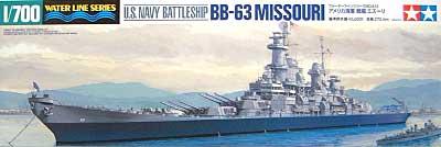 アメリカ海軍 戦艦 ミズーリプラモデル(タミヤ1/700 ウォーターラインシリーズNo.613)商品画像