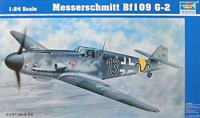 メッサーシュミット Bf109 G-2プラモデル(トランペッター1/24 エアクラフトシリーズNo.02406)商品画像