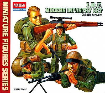 I.D.F. 歩兵セットプラモデル(アカデミー1/35 ArmorsNo.1368)商品画像