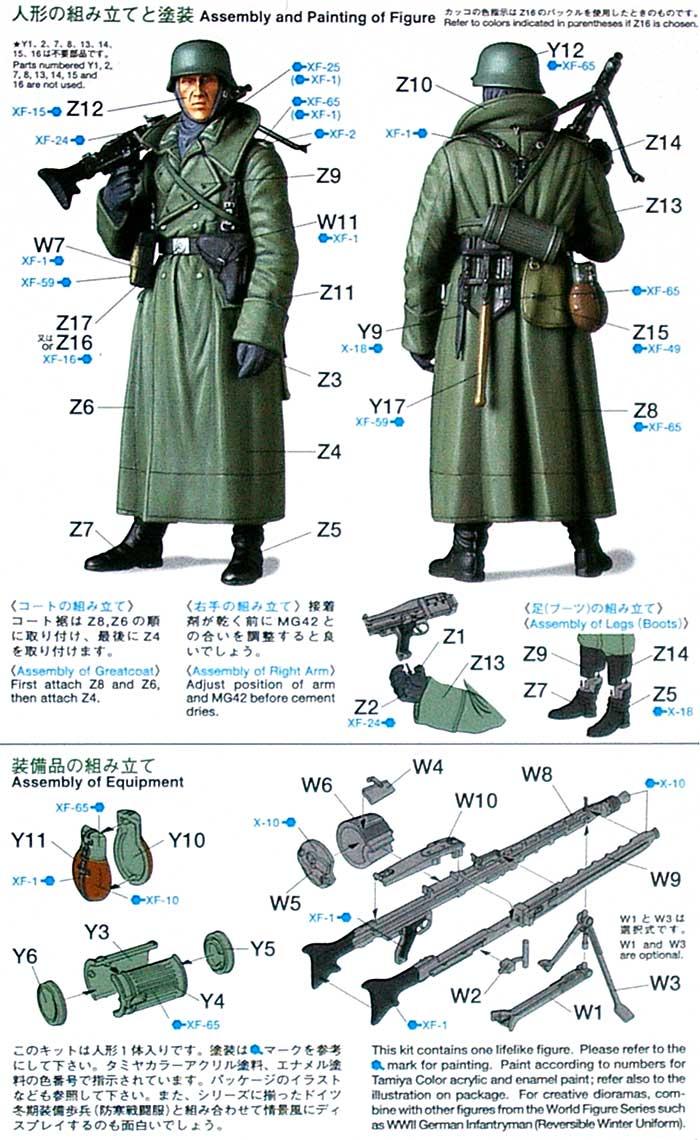 WW2 ドイツ機関銃手 (後期型オーバーコート)プラモデル(タミヤ1/16 ワールドフィギュアシリーズNo.006)商品画像_1