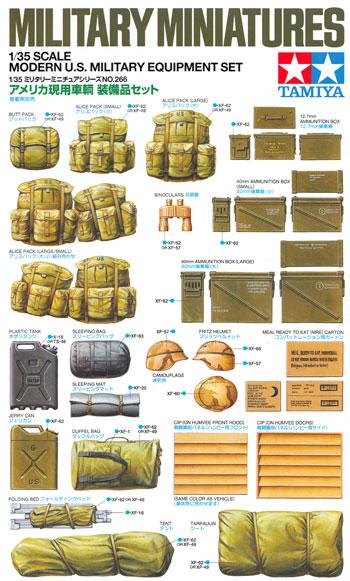 アメリカ現用車輌 装備品セットプラモデル(タミヤ1/35 ミリタリーミニチュアシリーズNo.266)商品画像