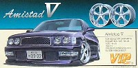 アオシマ1/24 VIPカー パーツシリーズアミスタットV (19インチ引っ張りタイヤ・ディープリムホイール)