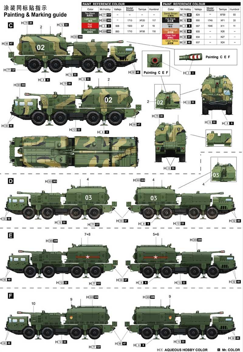 ロシア 130mm自走沿岸砲 A-222 ヴェーリクプラモデル(トランペッター1/35 AFVシリーズNo.01036)商品画像_2