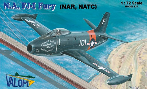 ノースアメリカン FJ-1 フューリー (NAR、NATC)プラモデル(バロムモデル1/72 エアクラフト プラモデルNo.72104)商品画像