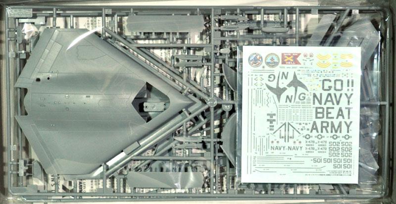 アメリカ海軍 無人爆撃機 X-47B GO NAVY アーミー・ネイビーゲームプラモデル(プラッツ1/72 プラスチックモデルキットNo.AC-018)商品画像_1
