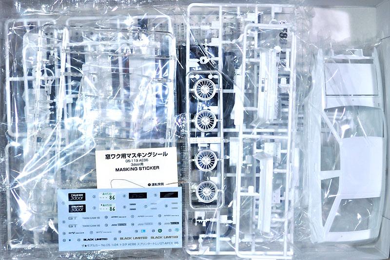 トヨタ AE86 スプリンター トレノ GT-APEX '85プラモデル(アオシマ1/24 ザ・モデルカーNo.005)商品画像_1