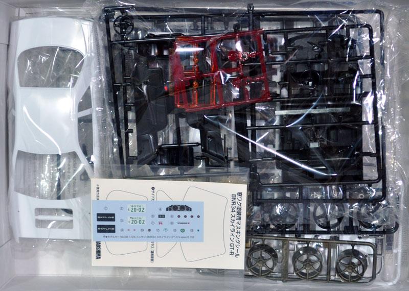 ニッサン BNR34 スカイライン GT-R V-spec2 '02プラモデル(アオシマ1/24 ザ・モデルカーNo.008)商品画像_1