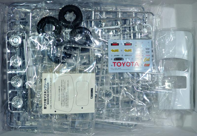 LN107 ハイラックス ピックアップ ダブルキャブ リフトアップ '94プラモデル(アオシマ1/24 ザ・チューンドカーNo.005)商品画像_1